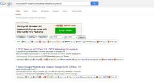 local search engine consulting company el paso tx